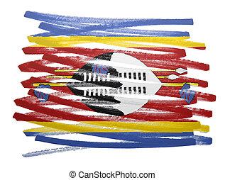 Flag illustration - Swaziland