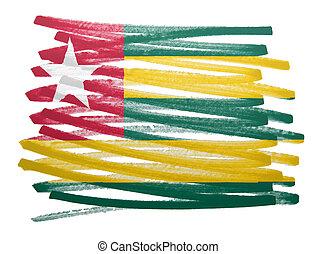 Flag illustration - Togo