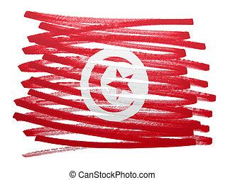 Flag illustration - Tunisia