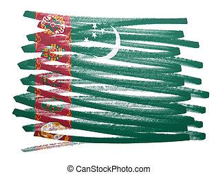 Flag illustration - Turkmenistan