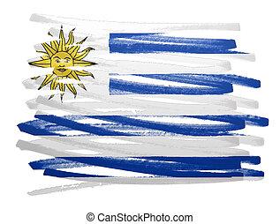 Flag illustration - Uruguay