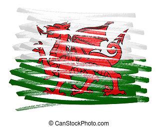 Flag illustration - Wales