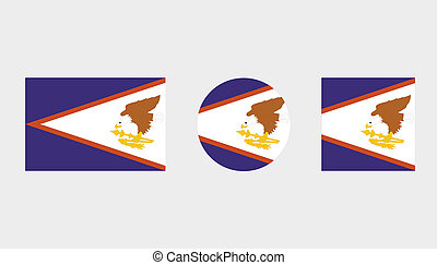 Flag Illustrations of the country of American Samoa