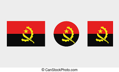 Flag Illustrations of the country of Angola