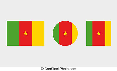 Flag Illustrations of the country of Cameroon