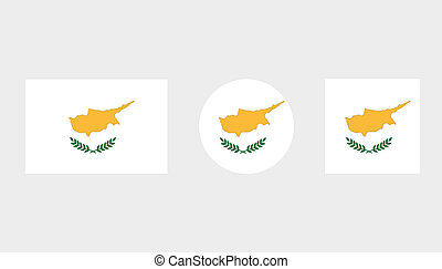 Flag Illustrations of the country of Cyprus