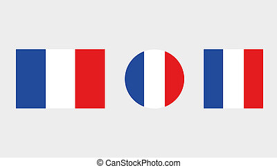 Flag Illustrations of the country of France