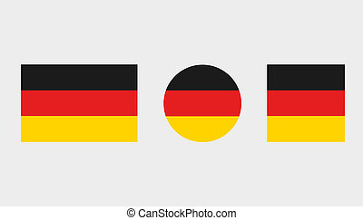 Flag Illustrations of the country of Germany