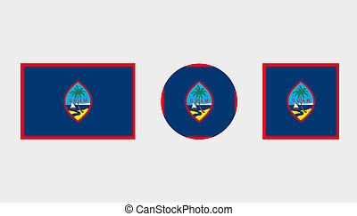 Flag Illustrations of the country of Guam