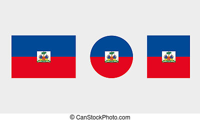 Flag Illustrations of the country of Haiti