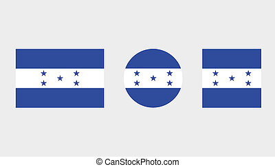 Flag Illustrations of the country of Honduras