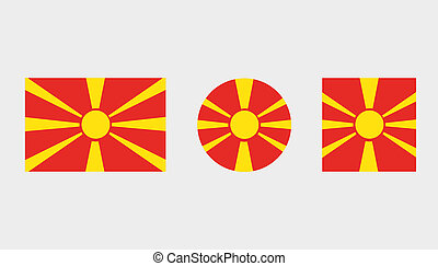 Flag Illustrations of the country of Macedonia