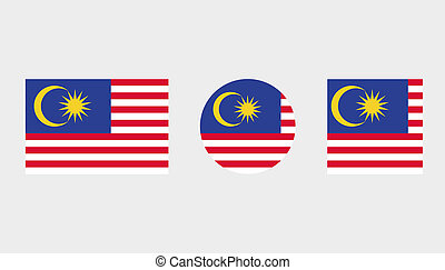 Flag Illustrations of the country of Malaysia