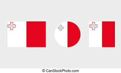 Flag Illustrations of the country of Malta