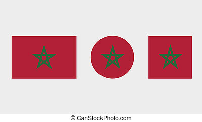 Flag Illustrations of the country of Morocco
