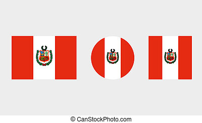 Flag Illustrations of the country of Peru