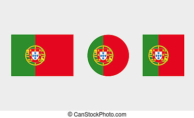 Flag Illustrations of the country of Portugal