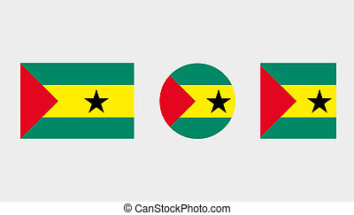 Flag Illustrations of the country of Sao Tome E Principe -...