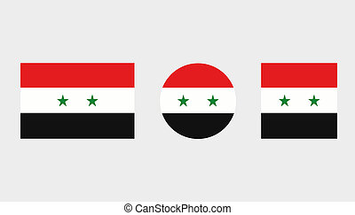 Flag Illustrations of the country of Syria