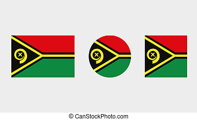 Flag Illustrations of the country of Vanuatu
