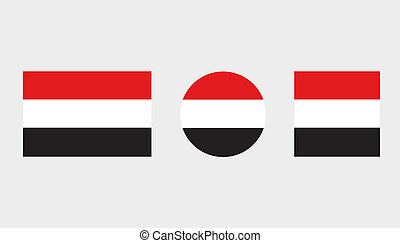 Flag Illustrations of the country of Yemen