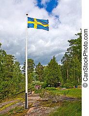 Flag in Swedish pastoral