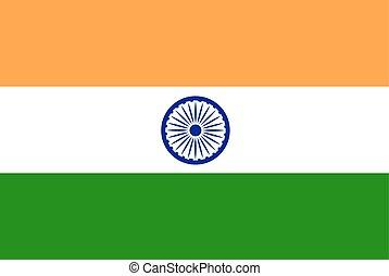 Flag India vector stock illustration.