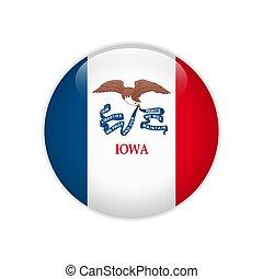 Flag Iowa button