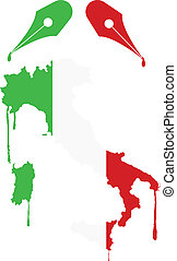 flag italy ink