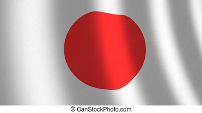 Flag Japan moving wind