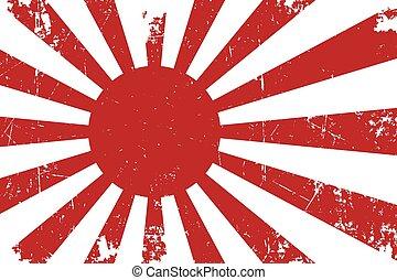 flag., japonés, textura, oxidado, mask., ilustración,...