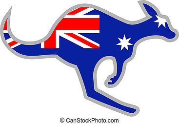 Flag kangaroo - Creative design of flag kangaroo