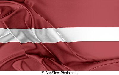 flag., letonia