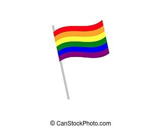 Flag, lgbt, rainbow icon. Vector illustration, flat design.