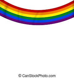 Flag LGBT, ribbon icon. Template design, vector illustration. Love wins. LGBT logo symbol in rainbow colors. Gay pride collection. Banner.