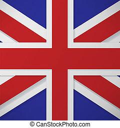 flag london background.