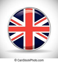 flag london england design - flag button london england...