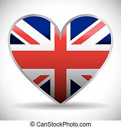 flag london england design - flag heart london england...