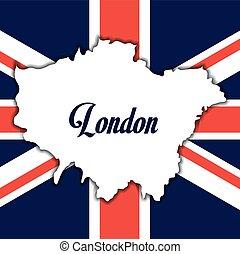 flag london england design - flag map london england...