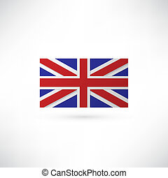 vector great britain s flag and london
