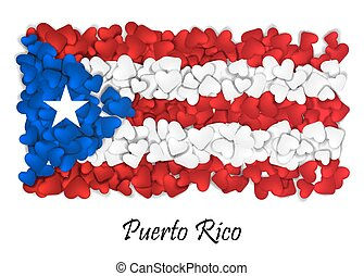 Flag Love Puerto Rico. Flag Heart Glossy. With love from Puerto Rico. Made in Puerto Rico. Puerto Rico national independence day. Sport team flag. Island