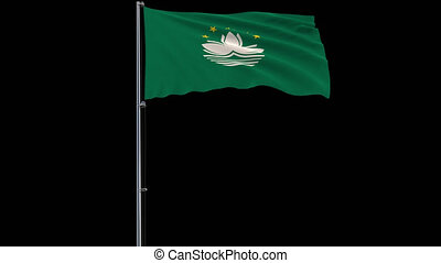 Flag Macau on transparent background, 4k prores 4444 footage...