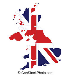 flag map of great britain