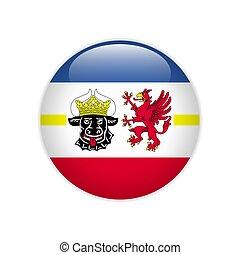 Flag Mecklenburg-Western Pomerania button