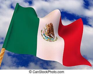 Flag. Mexico