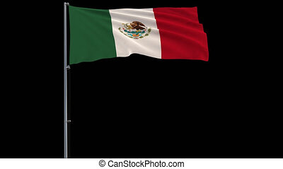 Flag Mexico on transparent background, 4k prores 4444 footage with alpha