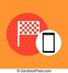 flag mobile phone navigation