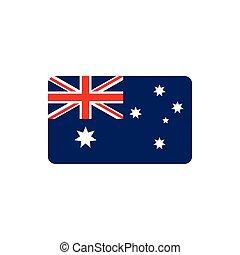 flag nation symbol australia icon on white background