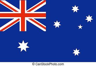 flag., nazionale, bandiera australia, australiano