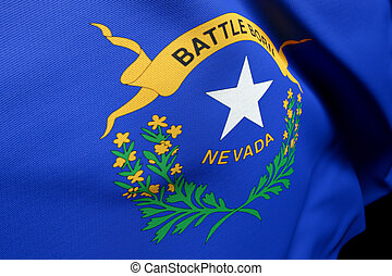 flag Nevada, close up of the US State usa